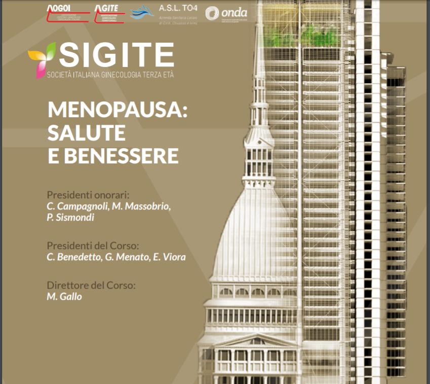 Menopausa Salute E Benessere Torino 18 Maggio 2019 Sigite